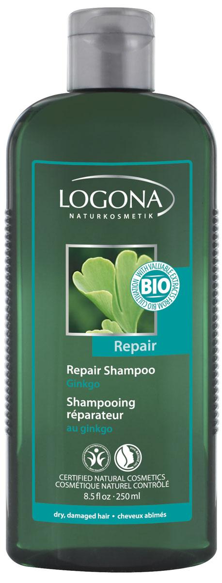 LOGONA Восстанавливающий шампунь с Экстрактом Гинкго 250 мл30477Восстанавливает сухие и поврежденные волосы. Восстанавливающий шампунь с гинкго возвращает волосам здоровую структуру и природный блеск. Мягкие моющие вещества в составе шампуня очищают бережно, но тщательно, полностью вымывая остатки укладочных средств. Фитокосметический комплекс на основе экстракта гинкго, био-календулы, гидролизованного шелка и зародышей пшеницы глубоко восстанавливает и питает поврежденные волосы. При регулярном применении шампуня волосы становятся более послушными, эластичными и блестящими.