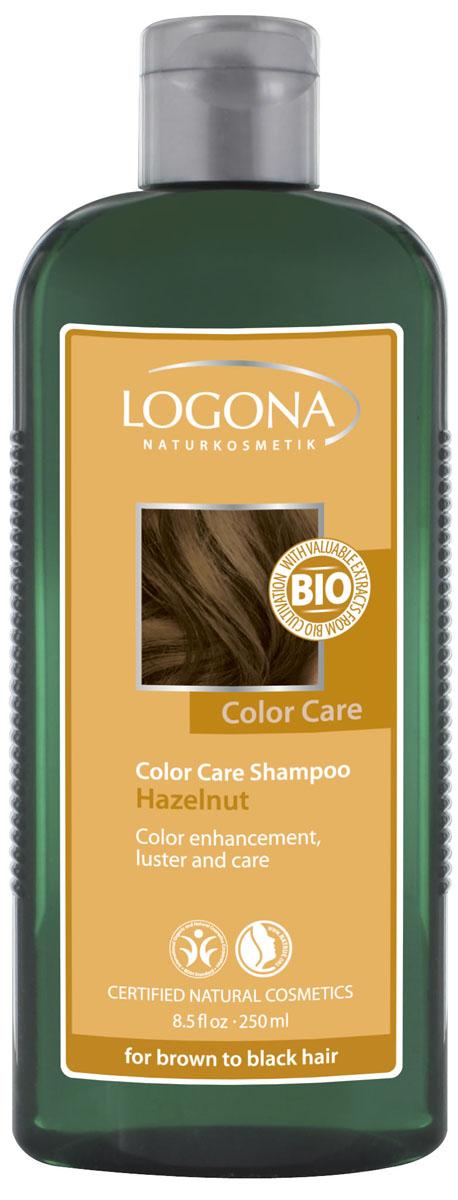 LOGONA Color Care Шампунь с Лесным Орехом 250 мл32165Ежедневно ухаживает за волосами каштанового и черного цвета. Шампунь для ежедневного использования, поддерживающий насыщенные глубокие темные оттенки волос. Подойдет как натуральным брюнеткам, так и тем, кто предпочитает окрашивать волосы при помощи натуральных красителей. Регулярное применение шампуня с лесным орехом тонирует волосы, усиливая темные оттенки волос – от каштанового до черного. Шампунь Color Care бережно очищает волосы, продлевая эффект после окрашивания. Растительный экстракт листьев березы и календулы, богатый микроэлементами и витаминами, необходимыми для роста волос, интенсивно питает и увлажняет. Зародыши пшеницы, скорлупа грецкого ореха и экстракт шелка восстанавливают структуру волос, придавая им блеск, объем и мягкость.