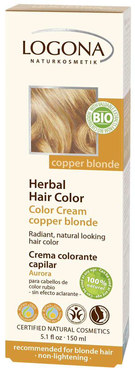 LOGONA Крем-краска для волос МЕДНЫЙ БЛОНДИН 150 мл1116Уникальное сочетание исключительно природных растительных красителей и других питательных компонентов придадут вашим волосам яркий цвет, блеск, здоровый вид и объем. Цвет МЕДНЫЙ БЛОНДИН оптимально подходит для таких волос: светлый блондин, русый, темно-русый.