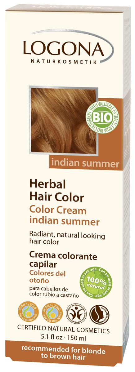 LOGONA Крем-краска для волос ИНДИЙСКОЕ ЛЕТО 150 мл1117Уникальное сочетание исключительно природных растительных красителей и других питательных компонентов придадут вашим волосам яркий цвет, блеск, здоровый вид и объем. Цвет ИНДИЙСКОЕ ЛЕТО оптимально подходит для таких волос: средний блонд, темный блонд, каштановый.