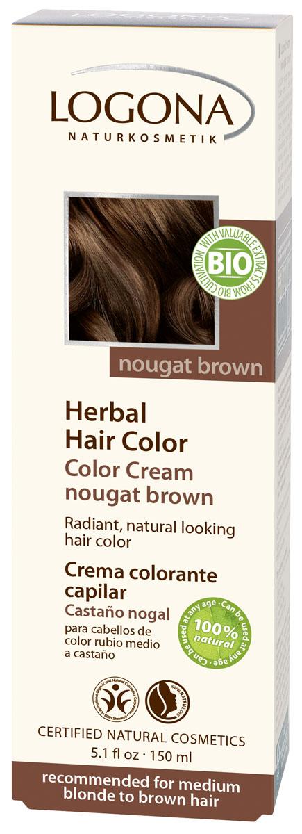 LOGONA Крем-краска для волос КОРИЧНЕВАЯ НУГА 150 мл1122Уникальное сочетание исключительно природных растительных красителей и других питательных компонентов придадут вашим волосам яркий цвет, блеск, здоровый вид и объем. Цвет КОРИЧНЕВАЯ НУГА оптимально подходит для таких волос: средний блонд, каштановые.