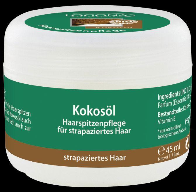LOGONA Кокосовое масло 45 мл92Ухаживает за волосами и восстанавливает секущиеся кончики. Кокосовое масло – универсальное средство для поддержания красоты ваших волос. Ценное кокосовое масло насыщает волосы питательными веществами, придавая им гладкость, эластичность и блеск. Всего несколько капель кокосового масла, нанесенных на кончики волос перед сном, способны восстановить структуру волос, оживить и преобразить даже сухие и ломкие волосы. Кокосовое масло также можно использовать для массажа или ухода за кожей.
