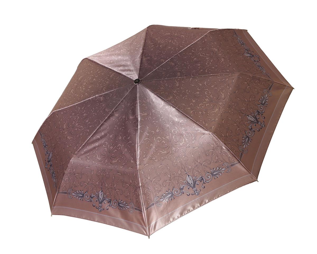 Зонт женский Fabretti, автомат, 3 сложения, цвет: бежевый. L-16107-2 - FabrettiL-16107-2Зонт женский Fabretti, облегченный суперавтомат, 3 сложения