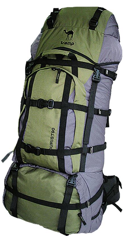 Рюкзак туристический Tramp Tourist, цвет:серый-хаки. 90л
