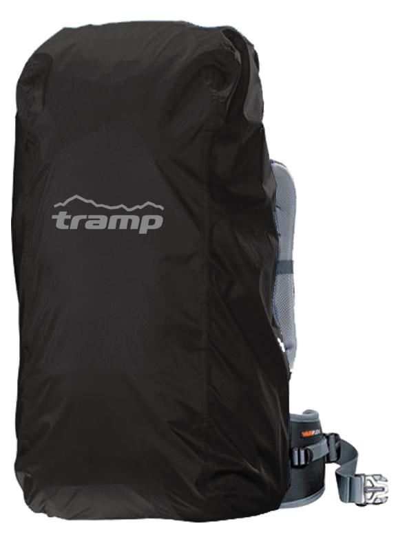 Накидка на рюкзак Tramp, цвет: черный. 70-100лTRP-019Накидка от дождя на рюкзак р-р L (70-100l) Tramp черного цвета. Особенности: Размер: L- 104x34x31см для рюкзака 70-100л В сложенном виде: 13х18см Логотип из светоотражающей краски Упакована в тканевый мешочек Материал: Nylon PU