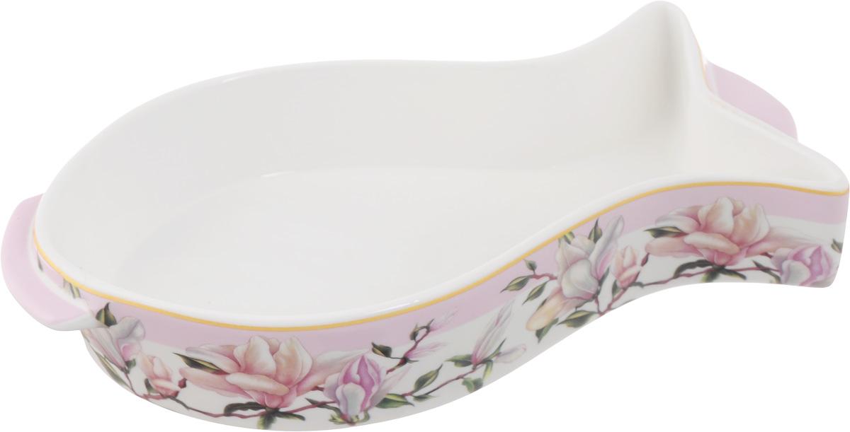 Блюдо для запекания и сервировки Elan Gallery Рыбка. Орхидея на розовом, 26 х 13,5 см503975Блюдо для запекания Elan Gallery Рыбка. Орхидея на розовом, изготовленное из фарфора, идеально подойдет для приготовления блюд в духовке, а также сервировки стола. Блюдо станет отличным дополнением к вашему кухонному инвентарю и подчеркнет ваш прекрасный вкус. Можно использовать в микроволновой печи. Размер блюда (без учета ручек): 26 х 13,5 см. Высота стенки: 5 см.