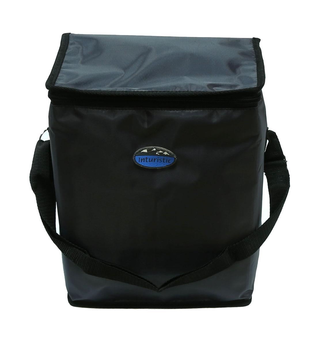 Сумка изотермическая Inturistic, цвет: серый,17л128533-1Изотермическая сумка поможет сохранить температуру пищи и напитков в течение нескольких часов. Будет удобна при поездках на дачу, на пикник и дальних путешествиях.Коэффициент теплового отражения не менее 90%. Температурный диапазон применения от - 60С до 140С. Вмещает по высоте до 6 ПЭТ бутылок ёмкостью 1,5 л. с прохладительными напитками. Наибольший эффект достигается при использовании аккумуляторов холода. Имеется карман для аккумулятора холода. Карман можно использовать для переноски необходимых мелочей. Удобная для переноски контейнеров с едой и ланч боксов.