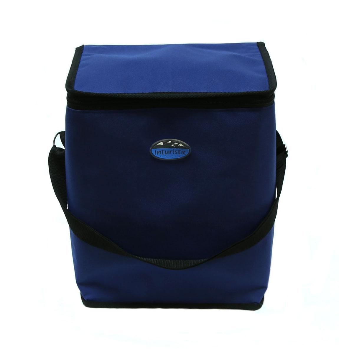 Сумка изотермическая Inturistic, цвет: синий, 17л128533-2Изотермическая сумка поможет сохранить температуру пищи и напитков в течение нескольких часов. Будет удобна при поездках на дачу, на пикник и дальних путешествиях.Коэффициент теплового отражения не менее 90%. Температурный диапазон применения от - 60С до 140С. Вмещает по высоте до 6 ПЭТ бутылок ёмкостью 1,5 л. с прохладительными напитками. Наибольший эффект достигается при использовании аккумуляторов холода. Имеется карман для аккумулятора холода. Карман можно использовать для переноски необходимых мелочей. Удобная для переноски контейнеров с едой и ланч боксов.