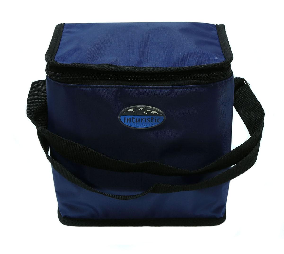 Сумка изотермическая Inturistic, цвет: синий, 6 л128540-2Изотермическая сумка Inturistic поможет сохранить температуру пищи и напитков в течение нескольких часов. Она будет удобна при поездках на дачу, на пикник и дальних путешествиях. Вмещает по высоте до 6 алюминиевых банок емкостью 0,5 л с прохладительными напитками. Наибольший эффект достигается при использовании аккумуляторов холода. Имеется карман для аккумулятора холода. Карман можно использовать для переноски необходимых мелочей. Сумка удобна для переноски контейнеров с едой и ланч боксов. Материал: Oxford ПВХ, тепло/гидроизоляционный материал, термостойкая изоляция. Объем сумки: 6 л.