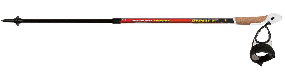 Палки для скандинавской ходьбы Vipole Instructor Vario Trident. S14 44S14 44Телескопические двухсекционные палки для скандинавской ходьбы. Материал – карбон 100%, верхняя секция – алюминий 7075. Диаметр секций – 14/16 мм. Технологии - Twist Lock внутренний (винтовой) зажим. TRIDENT – система быстрого высвобождения темляка. Пробковая ручка с системой фиксации TRIDENT. Темляк-капкан. Твердосплавный наконечник. Диаметр колец – 32 мм. Регулируемая длина от 88 до 130 см. Вес одной палки 220 гр. В комплект поставки входят: палки (пара), резиновые наконечники для скандинавской ходьбы и сумка для хранения и переноски.