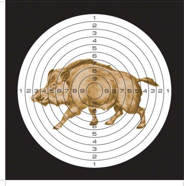 Мишень для пневматики 25м, рисунок Кабан. 25ЦВК25ЦВКМишень для пневматики 25м, рисунок Кабан. Мишень с рисунком Кабан предназначена для тренировок и стрельбы из пневматического оружия. В центре круга - цветное изображение кабана. В упаковке 50 шт. Характеристики: - материал: картон 280 г/м - размер мишени: 140х140 мм - вес упаковки: 255 г - размер упаковки: 140х140х18 мм