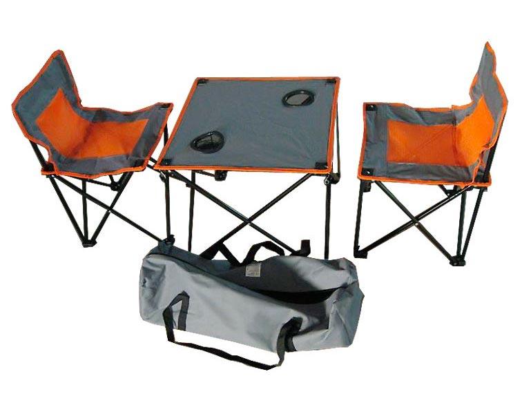 Набор мебели IRIT (стол + 2 стула), цвет: серо-оранжевый. IRG-520