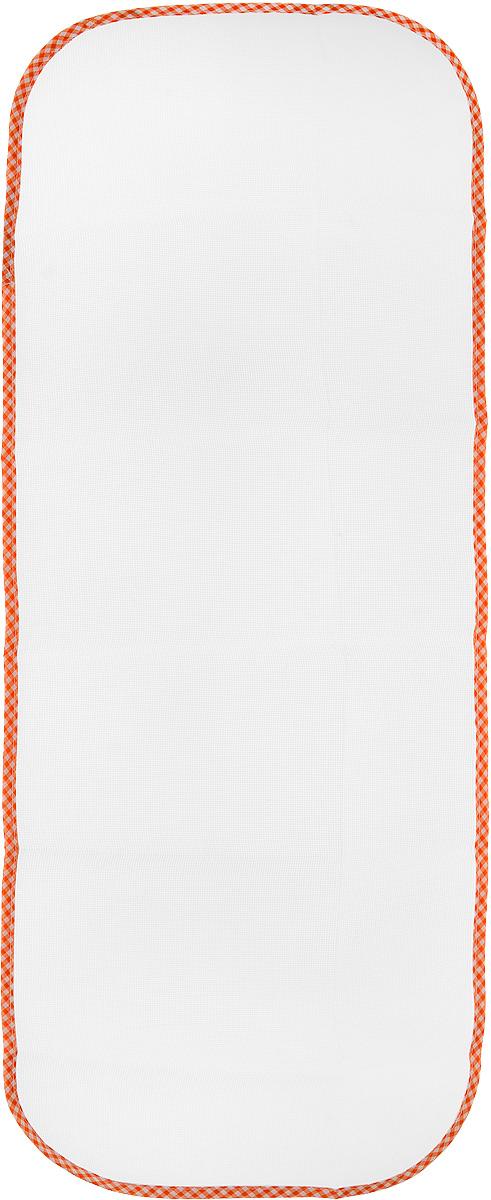Сетка для глажения Хозяюшка Мила Silk & Wool, цвет: оранжевый, белый, 35 х 90 см47002_оранжевая клеткаСетка для глажения Хозяюшка Мила Silk & Wool выполнена из 100% лавсана. Изделие подходит для одежды из шелка, шерсти и трикотажа. Прекрасная современная альтернатива марлевой тряпочке, которую использовали наши мамы и бабушки. Аккуратная сетка с оптимальным размером плетения станет незаменимым помощником при глажке белья. Сетка защищает белье от прижигания, исключает контакт горячего утюга с тканью, позволяет быстро и ровно сделать стрелки на брюках. Предназначена для температурного режима Silk & Wool.