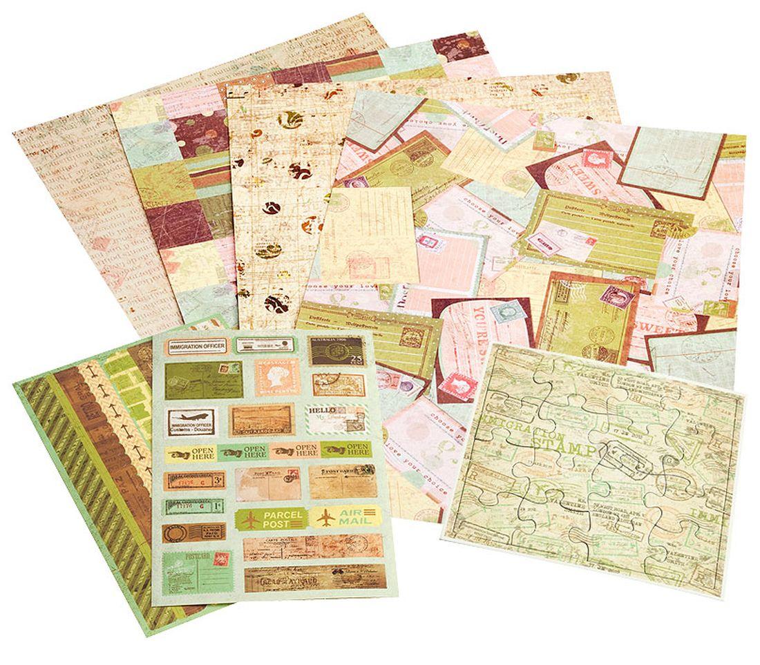 Набор для скрапбукинга Белоснежка Лимончелло042-SBЭти наборы выполнены в разной цветовой гамме и прекрасно подойдут для оформления подарков, тетрадей, фотографий, альбомов, записных книжек и даже декоративных бутылочек. В наборы входит скрапбумага, наклейки с вырубкой, пазл, стразы и полубусины, вязанные мини-салфетки, пробковые пуговицы, булавки, тесьма, веревка и металлическая декоративная фигурка. Комплектация: Скрапбумага 21*28,5 см. – 4 листа Лист с наклейками 10 x 15 см. – 2 шт. Пазл их картона 12 x 12 см. - 1 шт. Мини-салфетка, вязанная – 4 шт. Пуговицы пробковые – 5 шт. Стразы, полубусины – 1 пакет Тесьма 30 см. – 1 шт. Веревка 50 см. – 1шт. Булавки – 4 шт. Металлическая декоративная фигурка – 1 шт.