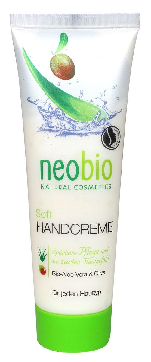 NEOBIO Смягчающий крем для рук, 75 мл62335NEOBIO смягчающий крем для рук с био-алоэ и био-оливой. Возвращает коже упругость и эластичность. Активный действующий компонент крема для рук NEOBIO – органическое оливковое масло, активно увлажняющее даже очень сухую и поврежденную кожу. Экстракт био-алоэ обладает противовоспалительным и заживляющим эффектом. После применения средства на коже остается приятный легкий аромат.