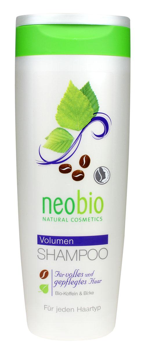 NEOBIO Шампунь объем, 250 мл62340NEOBIO шампунь объем с био-кофеином и био-березой Для всех типов волос. Придает волосам объем и заряжает их силой от корней до самых кончиков. Входящие в состав шампуня NEOBIO мягкие моющие субстанции на растительной основе бережно очищают волосы и кожу головы. Экстракт био-березы оказывает стимулирующее действие, способствуя росту новых волос. Био-кофеин укрепляет корни волос, постепенно уменьшая их выпадение.