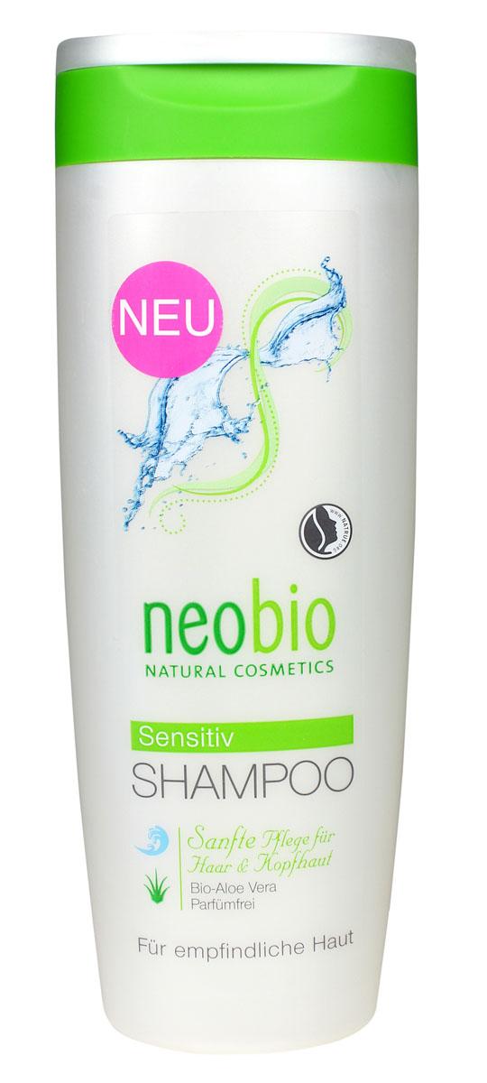 NEOBIO Шампунь для чувствительной кожи головы, 250 мл62380NEOBIO шампунь для чувствительной кожи головы с био-алоэ вера и аргинином. Для чувствительной кожи головы. Удаляет загрязнения, не раздражая чувствительную кожу. Благодаря особенно нежным и мягким моющим веществам растительного происхождения, шампунь NEOBIO сенситив бережно очищает волосы, не травмируя и не пересушивая даже очень чувствительную кожу головы. Растительный глицерин восстанавливает баланс влаги в коже головы. Экстракт био-алоэ вера обладает заживляющим и успокаивающим эффектом. Подходит для ежедневного применения. Гипоалерненно.
