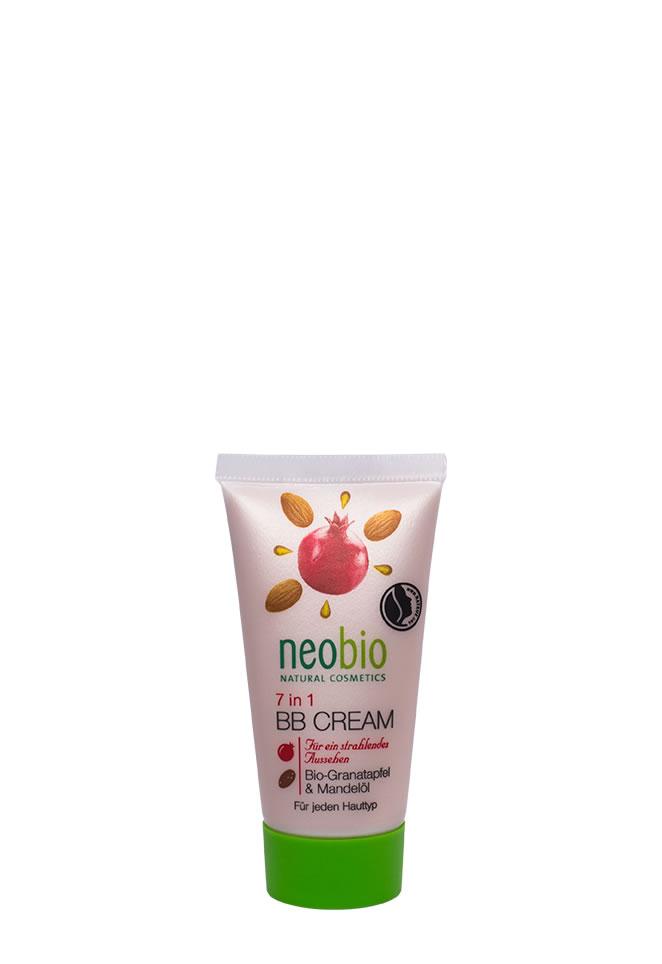 NEOBIO 7в1 ВВ - Крем для лица, 30 мл62386NEOBIO 7 в 1 ВВ-крем. Формула 7 в 1 с био-гранатом и био-маслом миндаля Заменяет несколько средств для ухода за лицом. Уникальный органический BB-крем NEOBIO, одновременно справляющийся сразу с 7 проблемами кожи. оптически уменьшает мелкие морщины скрывает неровности кожи обеспечивает равномерный, сияющий цвет лица избавляет от жирного блеска, придавая матовый эффект активно увлажняет питает и защищает кожу SPF 6.