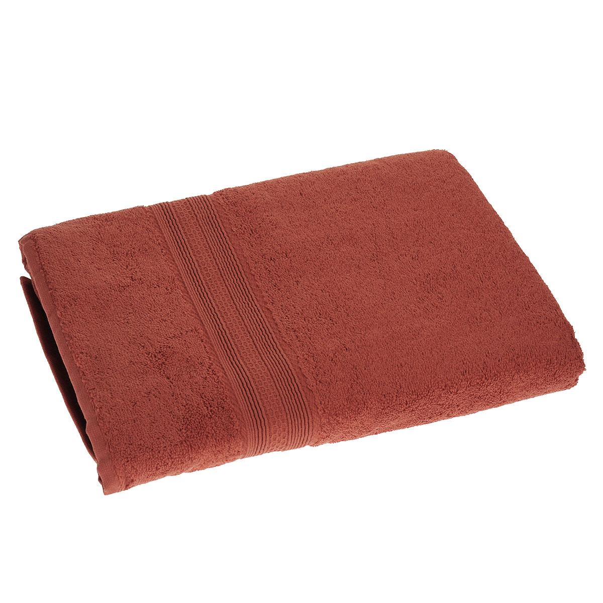Полотенце махровое TAC Touchsoft, цвет: терракотовый, 70 х 140 см0912-84081Полотенце TAC Touchsoft выполнено из натуральной махровой ткани (100% хлопок). Изделие отлично впитывает влагу, быстро сохнет, сохраняет яркость цвета и не теряет форму даже после многократных стирок. Полотенце очень практично и неприхотливо в уходе. Оно создаст прекрасное настроение и украсит интерьер в ванной комнате.