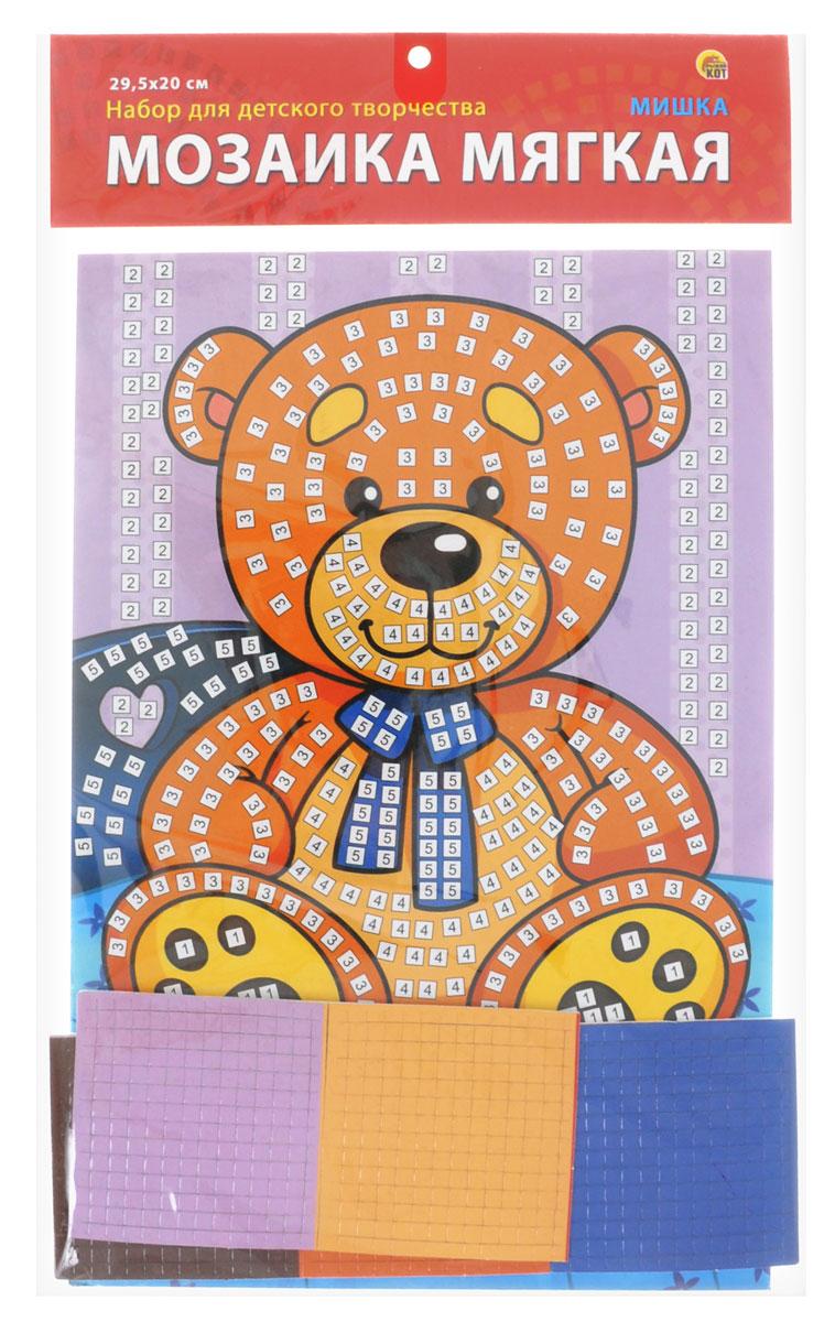 Рыжий Кот Мозаика мягкая МишкаМ-4750Мягкая мозаика Рыжий Кот Мишка станет прекрасным подарком для вашего ребёнка, ведь он развивает творческие способности, мелкую моторику рук, цветовосприятие, внимание и художественный вкус! Малышу нужно приклеить к пронумерованным областям на картинке детали соответствующих цветов. Набор привлекает ярким красивым дизайном и выполнен из безопасных материалов. В комплект входит основа, 5 листов цветной мозаики.