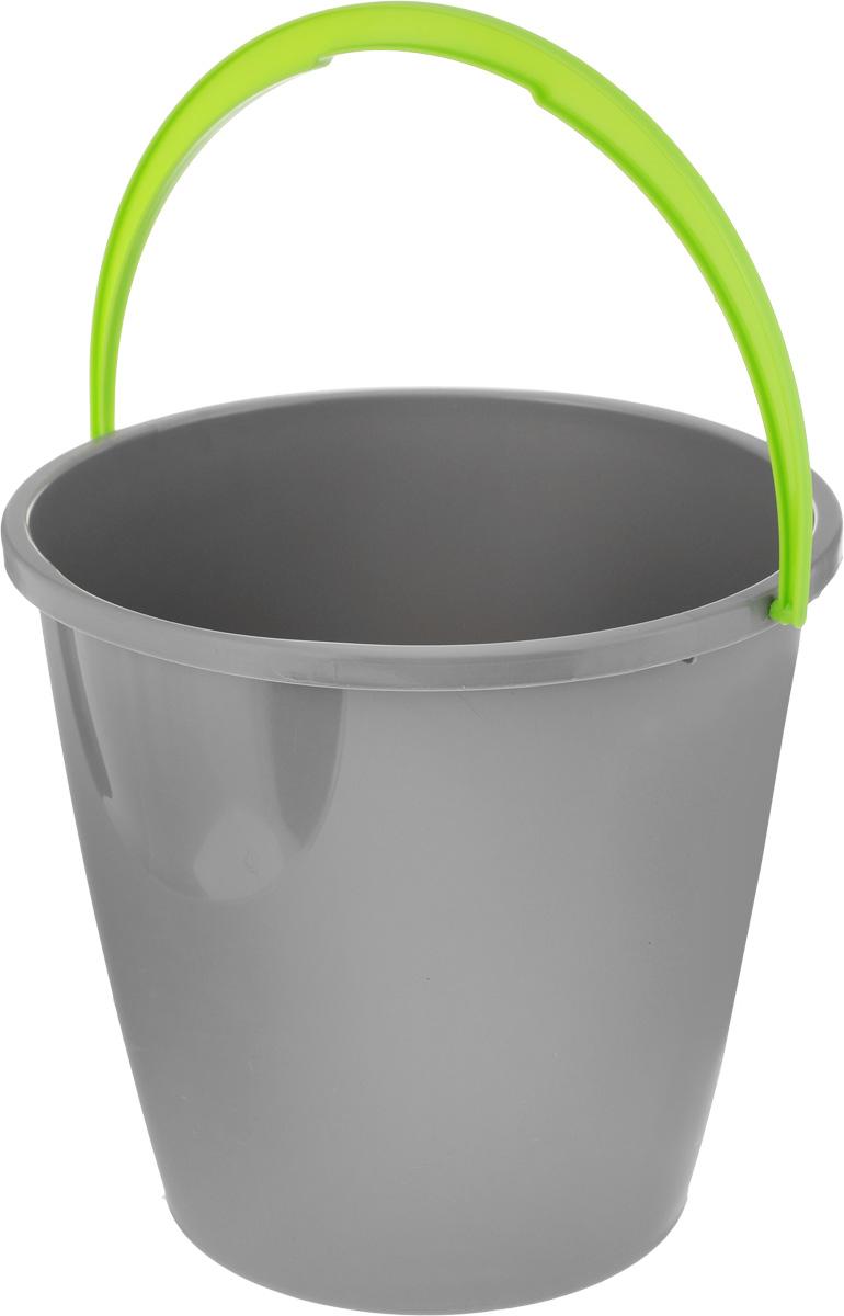 Ведро для уборки York, цвет: серый, салатовый, 10 л7103_серыйКруглое ведро для уборки York изготовлено из высококачественного пластика. Оно легче железного и не подвержено коррозии. Изделие оснащено удобной пластиковой ручкой. Такое ведро станет незаменимым помощником в хозяйстве. Диаметр ведра (по верхнему краю): 28 см. Высота стенок: 25 см.