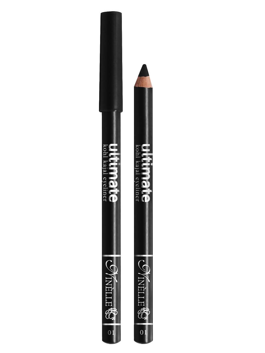 Ninelle Карандаш для глаз Ultimate №01, 1,5 г1052N10761Мягкий и гладкий карандаш для глаз с шелковистой текстурой, позволяющий нарисовать четкую или слегка растушеванную линию. С помощью мягкого карандаша- каяла можно подводить верхнее, нижнее, а также внутреннее веко.