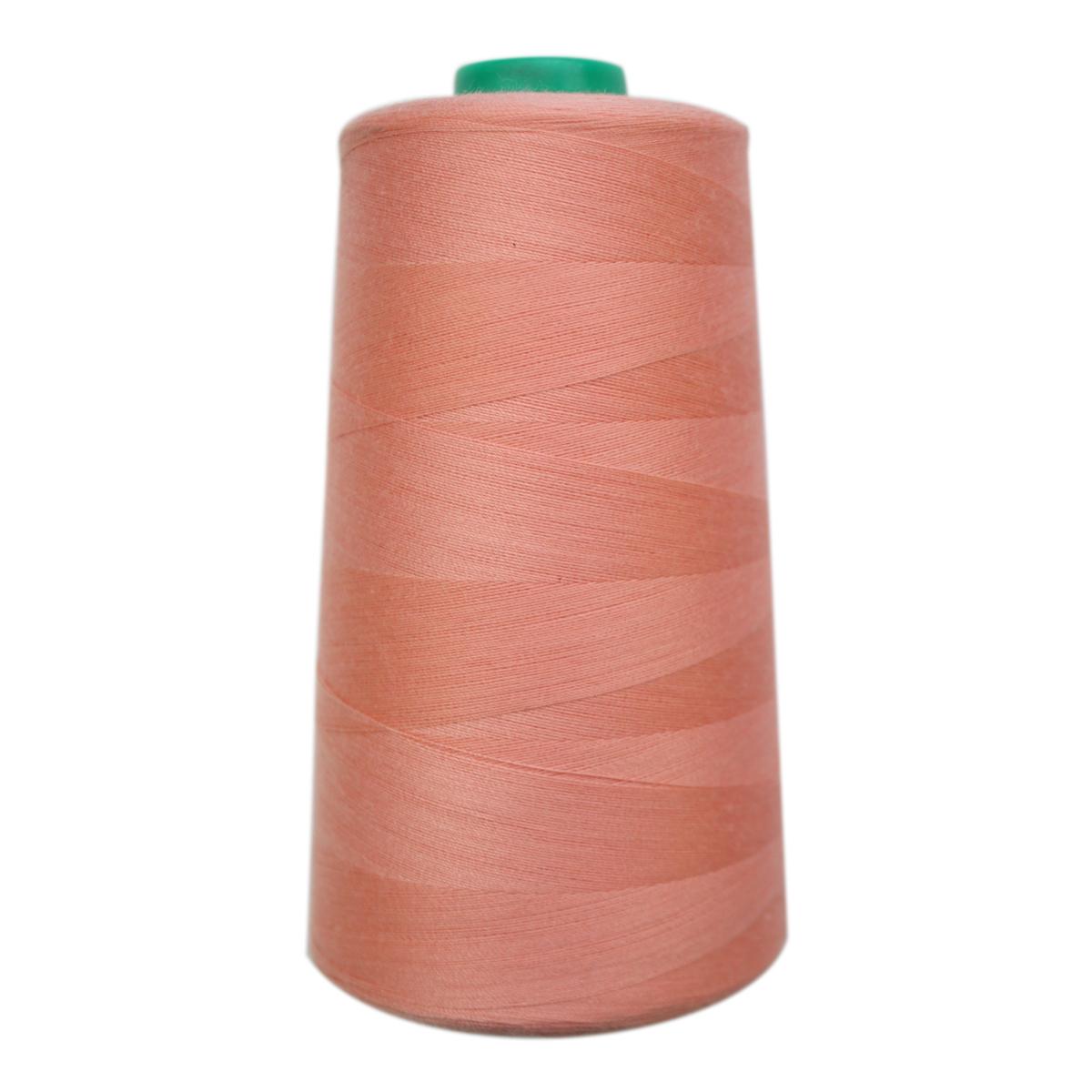 Нитки для шитья Bestex 50/2, 5000 ярд, цвет: бледно-коралловый (027)7700936-027Сфера использования: трикотаж; ткани малого веса; оверлочные швы; отделка краев; вышивка. Размер игл №70-80
