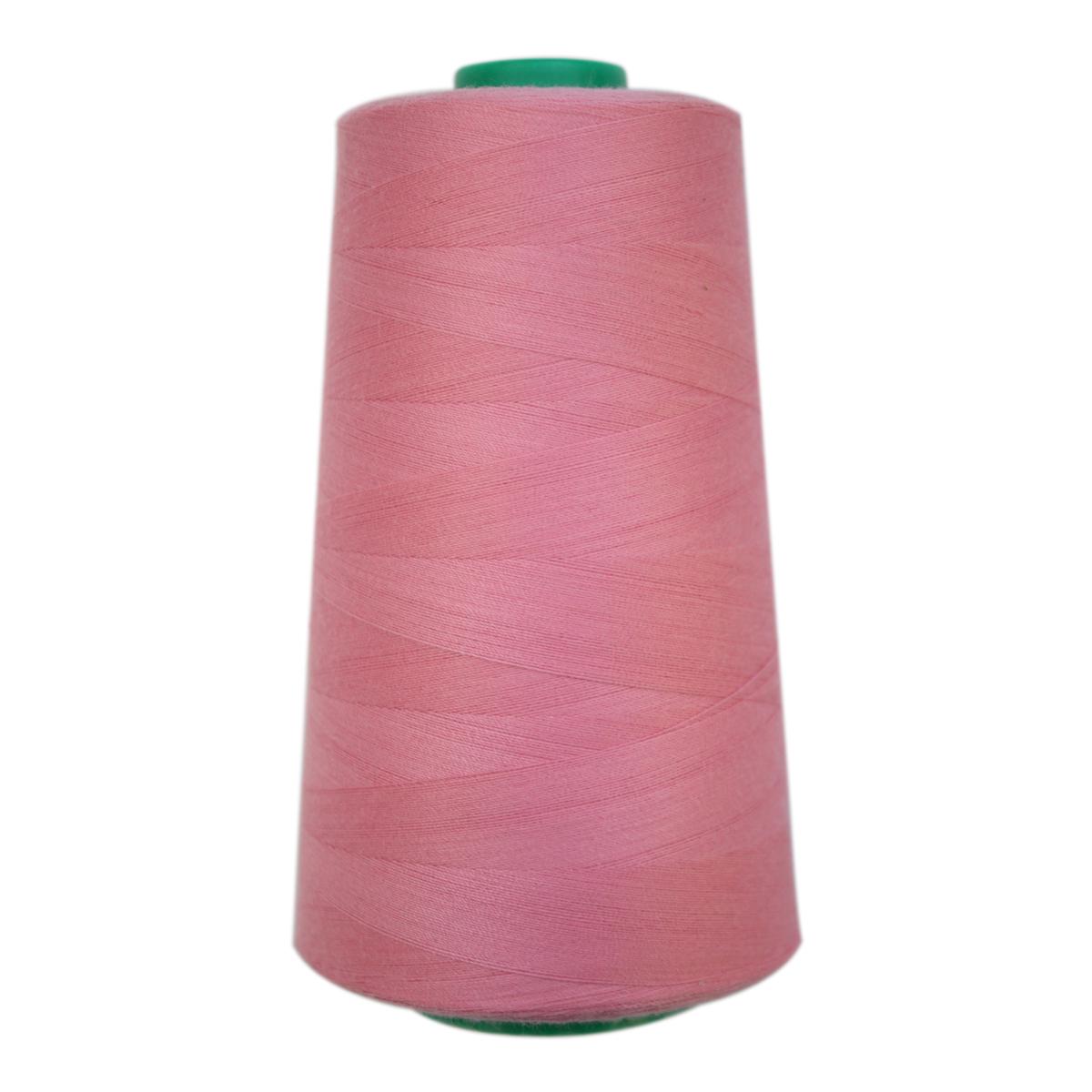 Нитки для шитья Bestex 50/2, 5000 ярд, цвет: розовый (035)7700936-035Сфера использования: трикотаж; ткани малого веса; оверлочные швы; отделка краев; вышивка. Размер игл №70-80