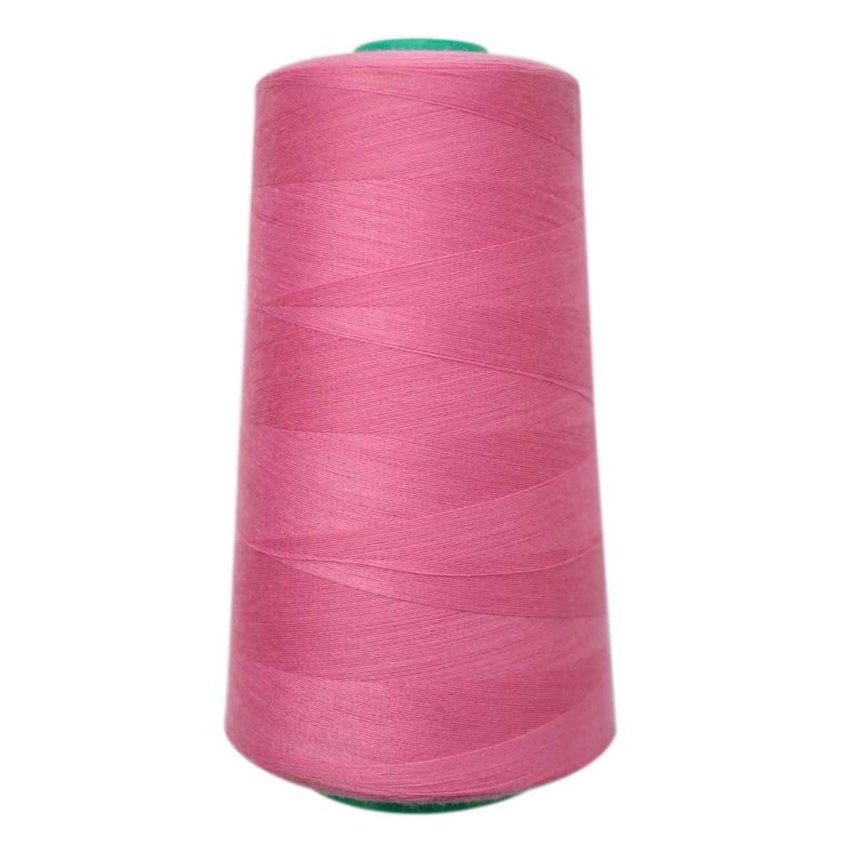 Нитки для шитья Bestex 50/2, 5000 ярд, цвет: св.фуксия (042)7700936-042Сфера использования: трикотаж; ткани малого веса; оверлочные швы; отделка краев; вышивка. Размер игл №70-80