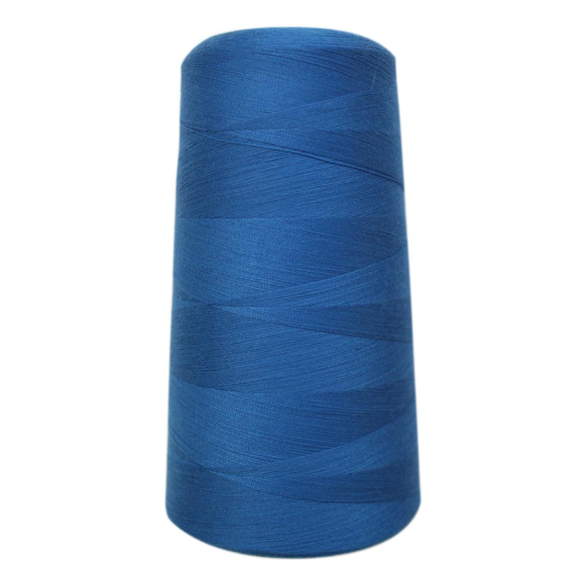 Нитки для шитья Bestex 50/2, 5000 ярд, цвет: ярк.василек (092)7700936-092Сфера использования: трикотаж; ткани малого веса; оверлочные швы; отделка краев; вышивка. Размер игл №70-80
