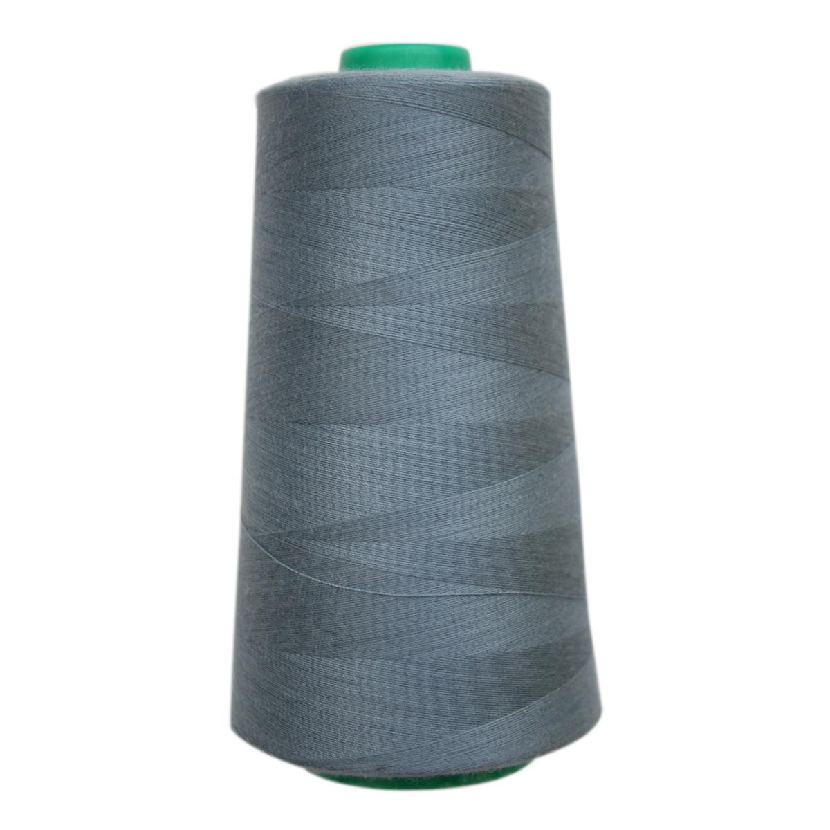 Нитки для шитья Bestex 50/2, 5000 ярд, цвет: т.серо-голубой (106)7700936-106Сфера использования: трикотаж; ткани малого веса; оверлочные швы; отделка краев; вышивка. Размер игл №70-80