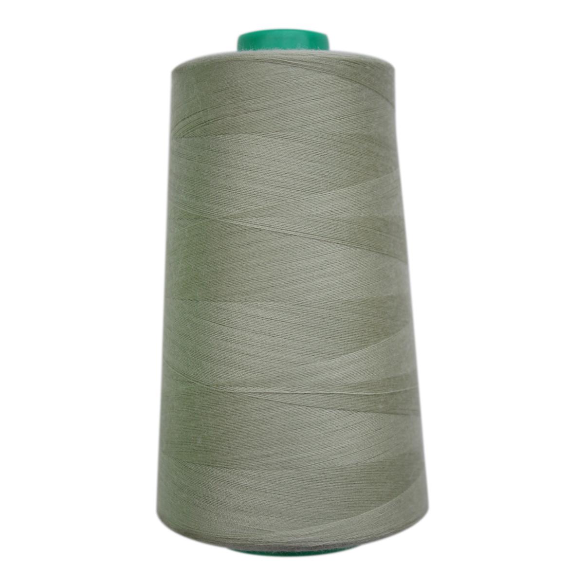Нитки для шитья Bestex 50/2, 5000 ярд, цвет: серо-салатовый (123)7700936-123Сфера использования: трикотаж; ткани малого веса; оверлочные швы; отделка краев; вышивка. Размер игл №70-80