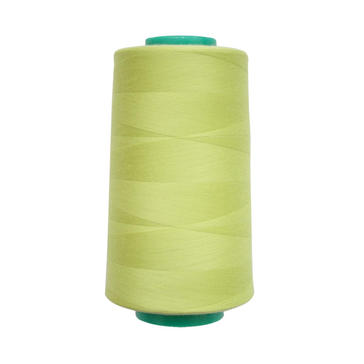 Нитки для шитья Bestex 50/2, 5000 ярд, цвет: ярко-желто-зеленый (129)7700936-129Сфера использования: трикотаж; ткани малого веса; оверлочные швы; отделка краев; вышивка. Размер игл №70-80