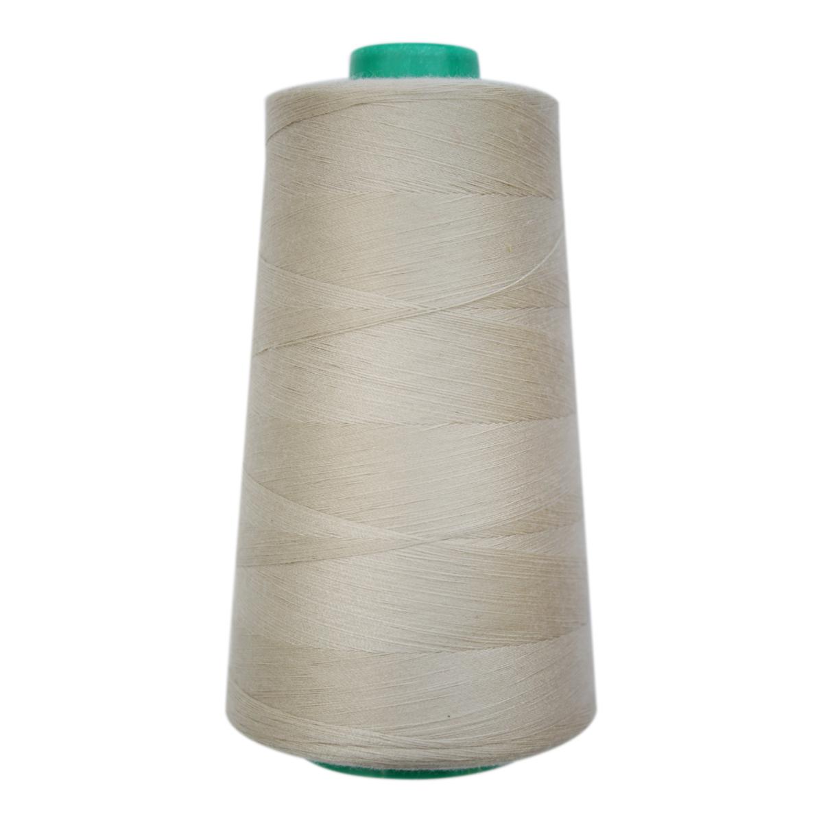 Нитки для шитья Bestex 50/2, 5000 ярд, цвет: серо-молочный (156)7700936-156Сфера использования: трикотаж; ткани малого веса; оверлочные швы; отделка краев; вышивка. Размер игл №70-80