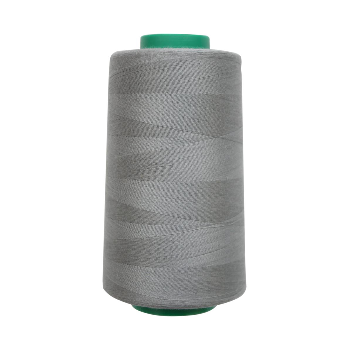 Нитки для шитья Bestex 50/2, 5000 ярд, цвет: серо-стальной (197)7700936-197Сфера использования: трикотаж; ткани малого веса; оверлочные швы; отделка краев; вышивка. Размер игл №70-80