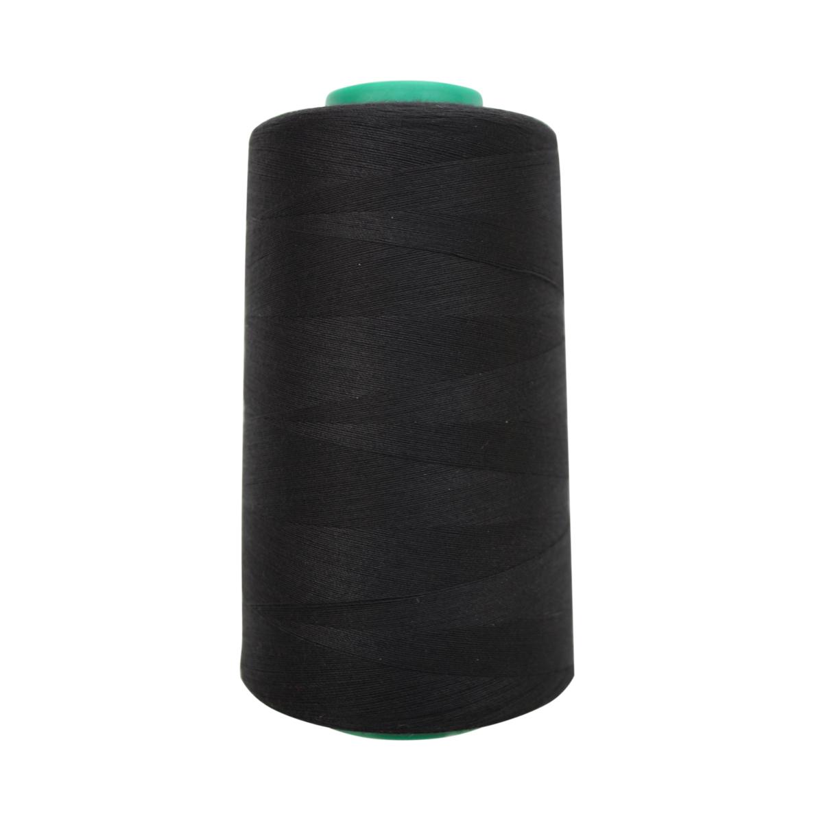 Нитки для шитья Bestex 50/2, 5000 ярд, цвет: черный (200)7700936-200Сфера использования: трикотаж; ткани малого веса; оверлочные швы; отделка краев; вышивка. Размер игл №70-80