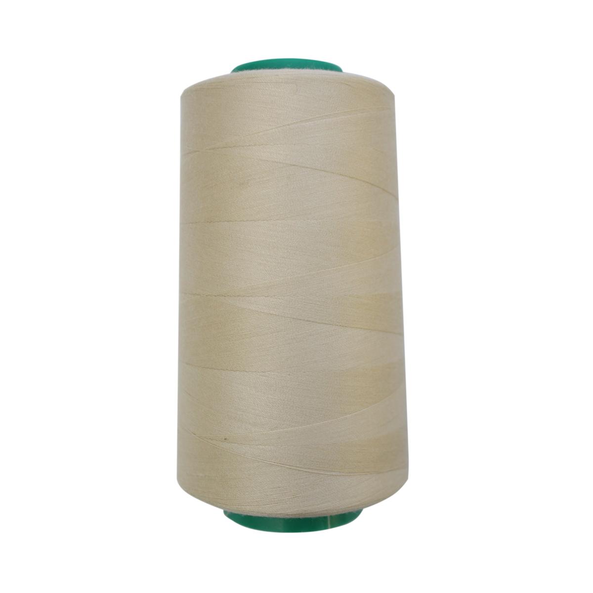 Нитки для шитья Bestex 50/2, 5000 ярд, цвет: молочно-бежевый (202)7700936-202Сфера использования: трикотаж; ткани малого веса; оверлочные швы; отделка краев; вышивка. Размер игл №70-80