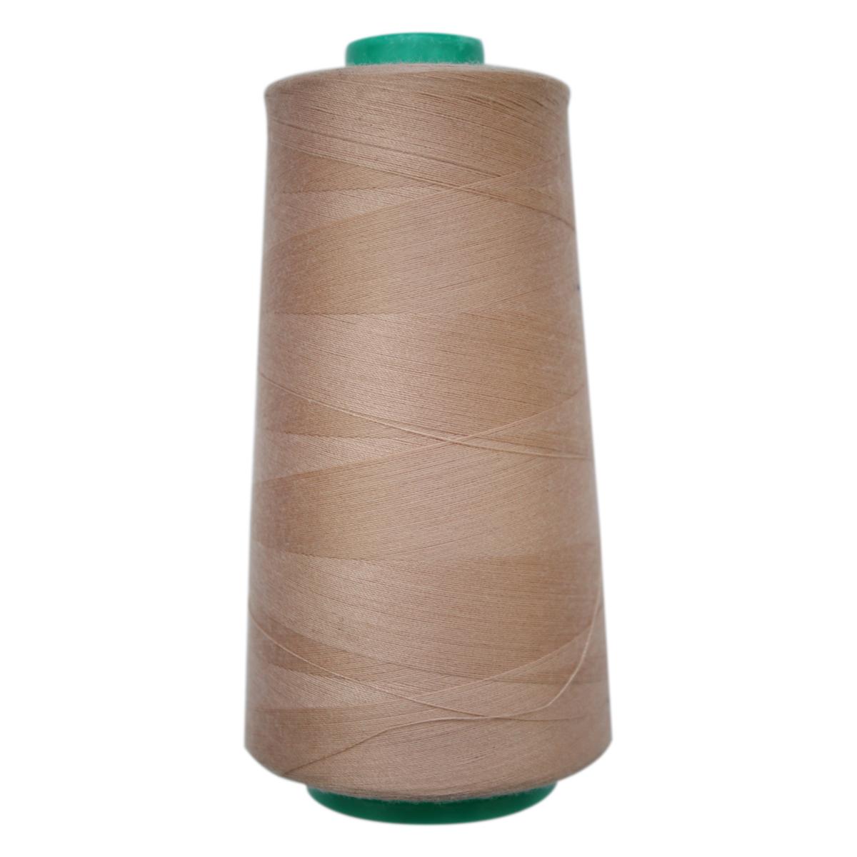 Нитки для шитья Bestex 50/2, 5000 ярд, цвет: бежевый (215)7700936-215Сфера использования: трикотаж; ткани малого веса; оверлочные швы; отделка краев; вышивка. Размер игл №70-80