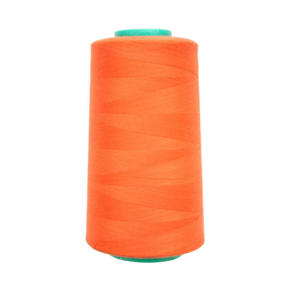 Нитки для шитья Bestex 50/2, 5000 ярд, цвет: т.оранжевый (218)7700936-218Сфера использования: трикотаж; ткани малого веса; оверлочные швы; отделка краев; вышивка. Размер игл №70-80