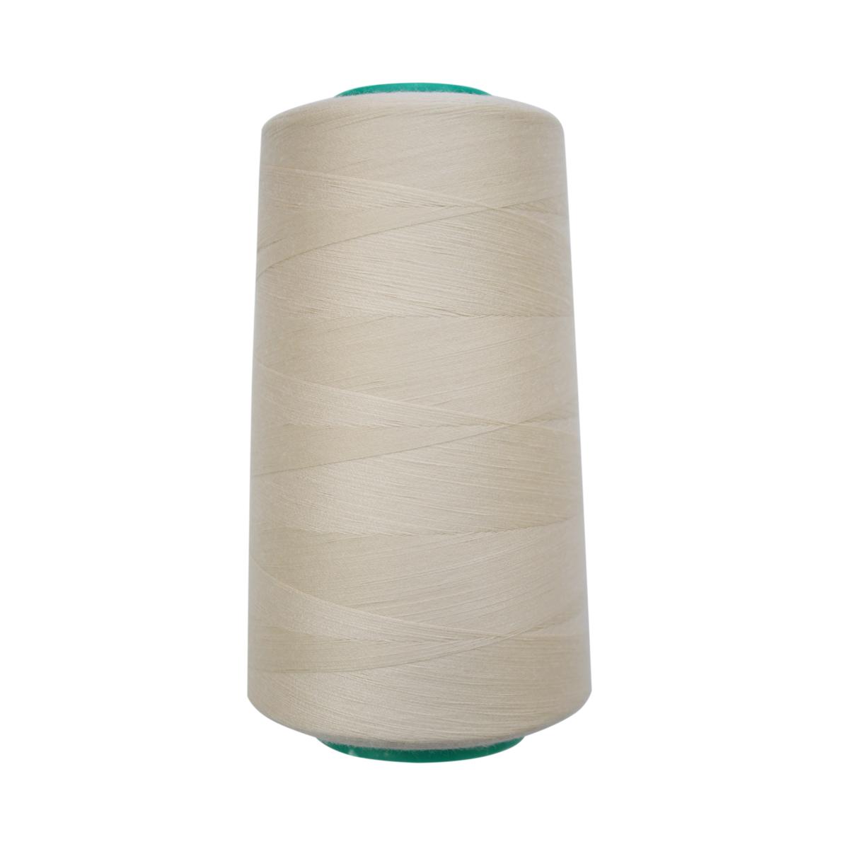 Нитки для шитья Bestex 50/2, 5000 ярд, цвет: крем (229)7700936-229Сфера использования: трикотаж; ткани малого веса; оверлочные швы; отделка краев; вышивка. Размер игл №70-80