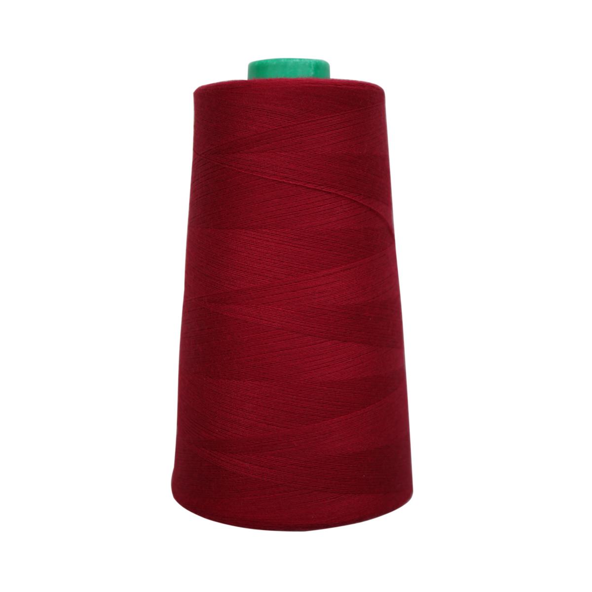 Нитки для шитья Bestex 50/2, 5000 ярд, цвет: т.т.красный (245)7700936-245Сфера использования: трикотаж; ткани малого веса; оверлочные швы; отделка краев; вышивка. Размер игл №70-80