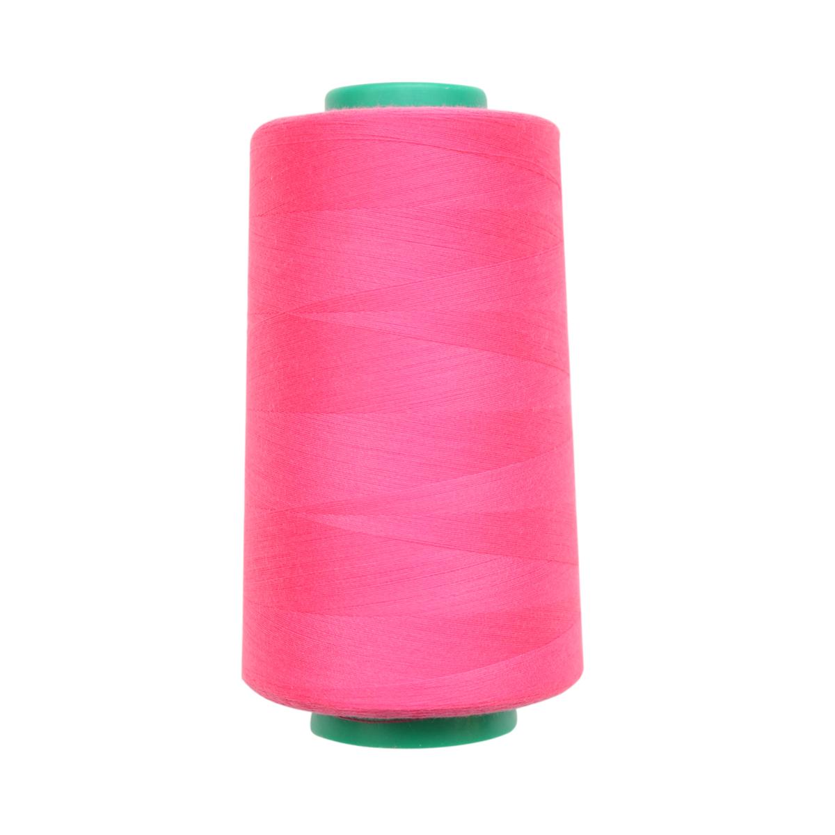 Нитки для шитья Bestex 50/2, 5000 ярд, цвет: ярк.фуксия (295)7700936-295Сфера использования: трикотаж; ткани малого веса; оверлочные швы; отделка краев; вышивка. Размер игл №70-80
