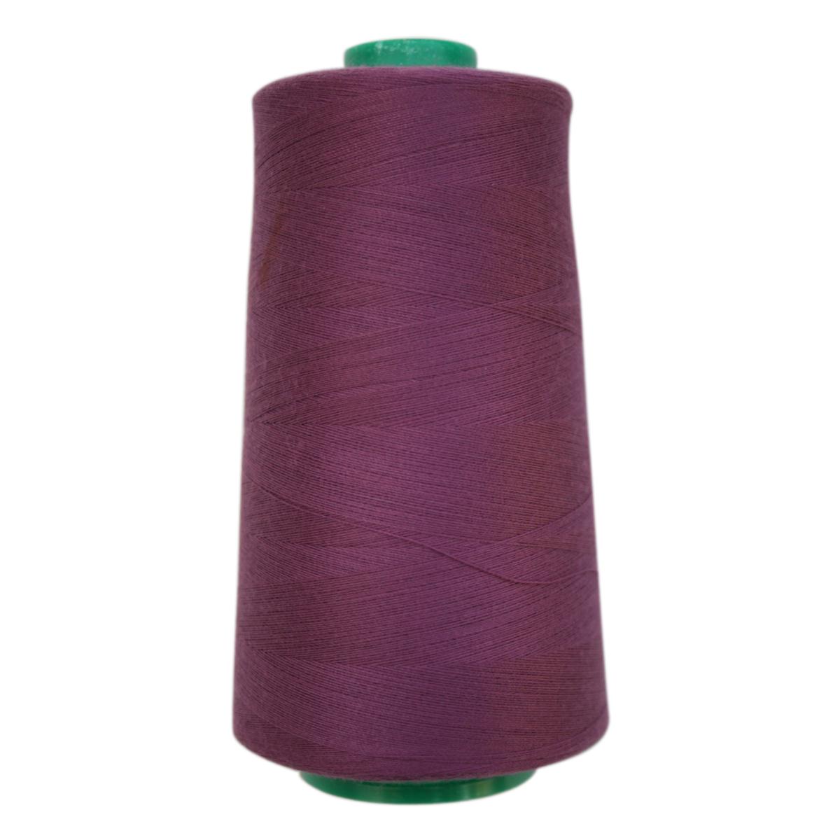 Нитки для шитья Bestex 50/2, 5000 ярд, цвет: т.сиреневый (299)7700936-299Сфера использования: трикотаж; ткани малого веса; оверлочные швы; отделка краев; вышивка. Размер игл №70-80
