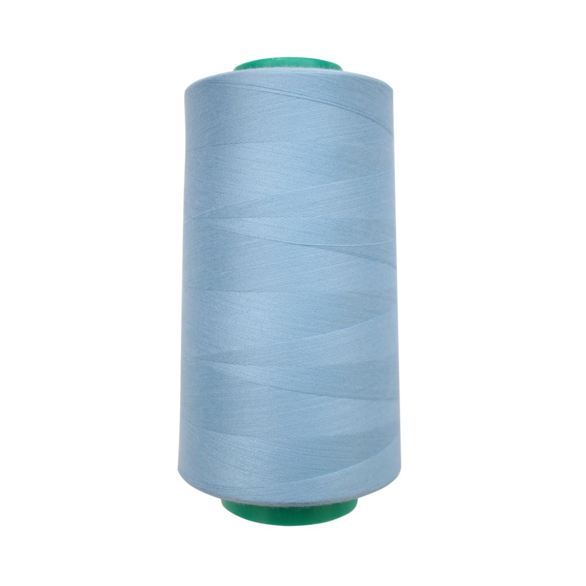 Нитки для шитья Bestex 50/2, 5000 ярд, цвет: небесно-голубой (320)7700936-320Сфера использования: трикотаж; ткани малого веса; оверлочные швы; отделка краев; вышивка. Размер игл №70-80