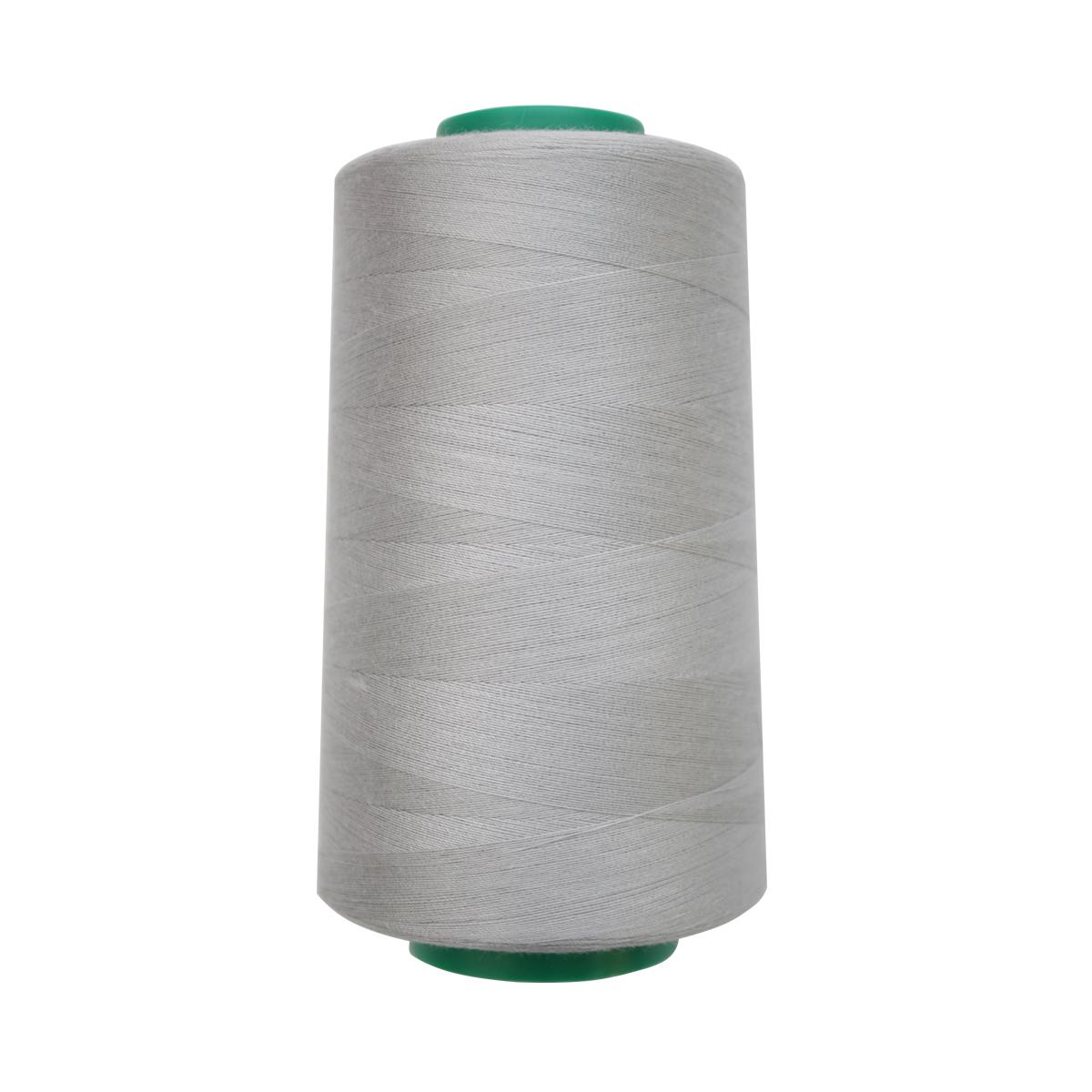Нитки для шитья Bestex 50/2, 5000 ярд, цвет: бело-пепельный (331)7700936-331Сфера использования: трикотаж; ткани малого веса; оверлочные швы; отделка краев; вышивка. Размер игл №70-80