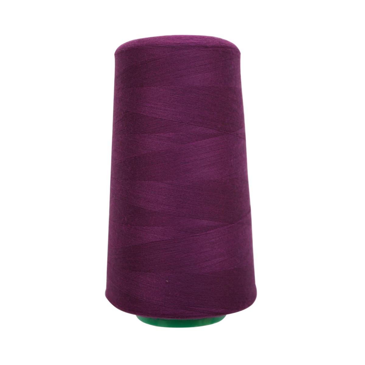 Нитки для шитья Bestex 50/2, 5000 ярд, цвет: т.сирень (348)7700936-348Сфера использования: трикотаж; ткани малого веса; оверлочные швы; отделка краев; вышивка. Размер игл №70-80