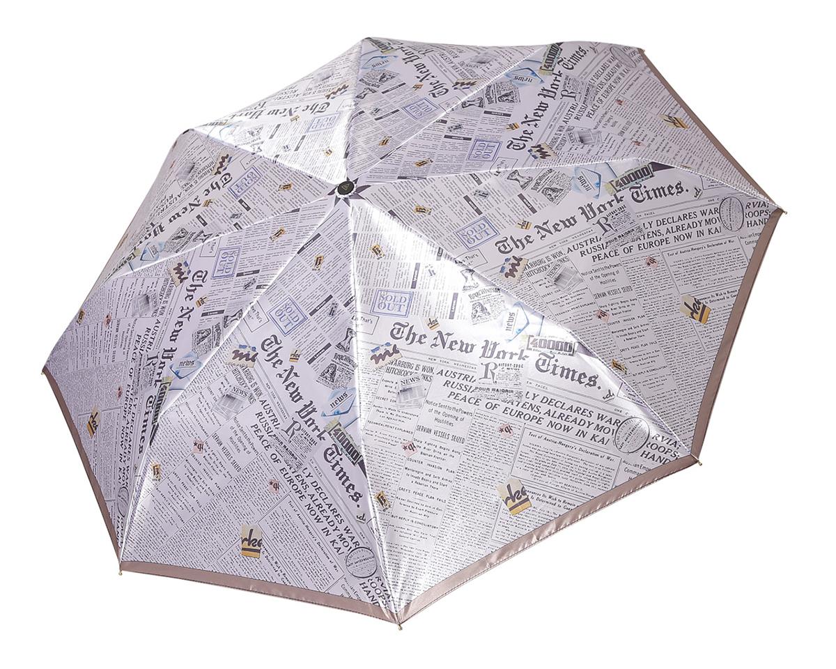 Зонт женский Fabretti, автомат, 3 сложения, цвет: мультиколор. L-16107-8L-16107-8Зонт женский Fabretti, облегченный суперавтомат, 3 сложения