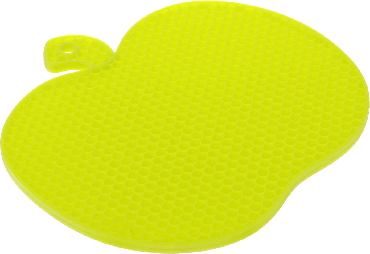 Подставка под горячее Marmiton Яблоко, силиконовая, цвет: салатовый, 19 х 18 см12134_салатовыйПодставка под горячее Marmiton Яблоко изготовлена из силикона, что позволяет ей выдерживать высокие температуры и не царапать поверхность стола. Силикон устойчив к фруктовым кислотам, обладает естественным антипригарным свойством. Выдерживает температуру от -40°С до +240°С. Такая подставка придется по вкусу человеку, ценящему практичные и оригинальные вещи. Можно мыть в посудомоечной машине.