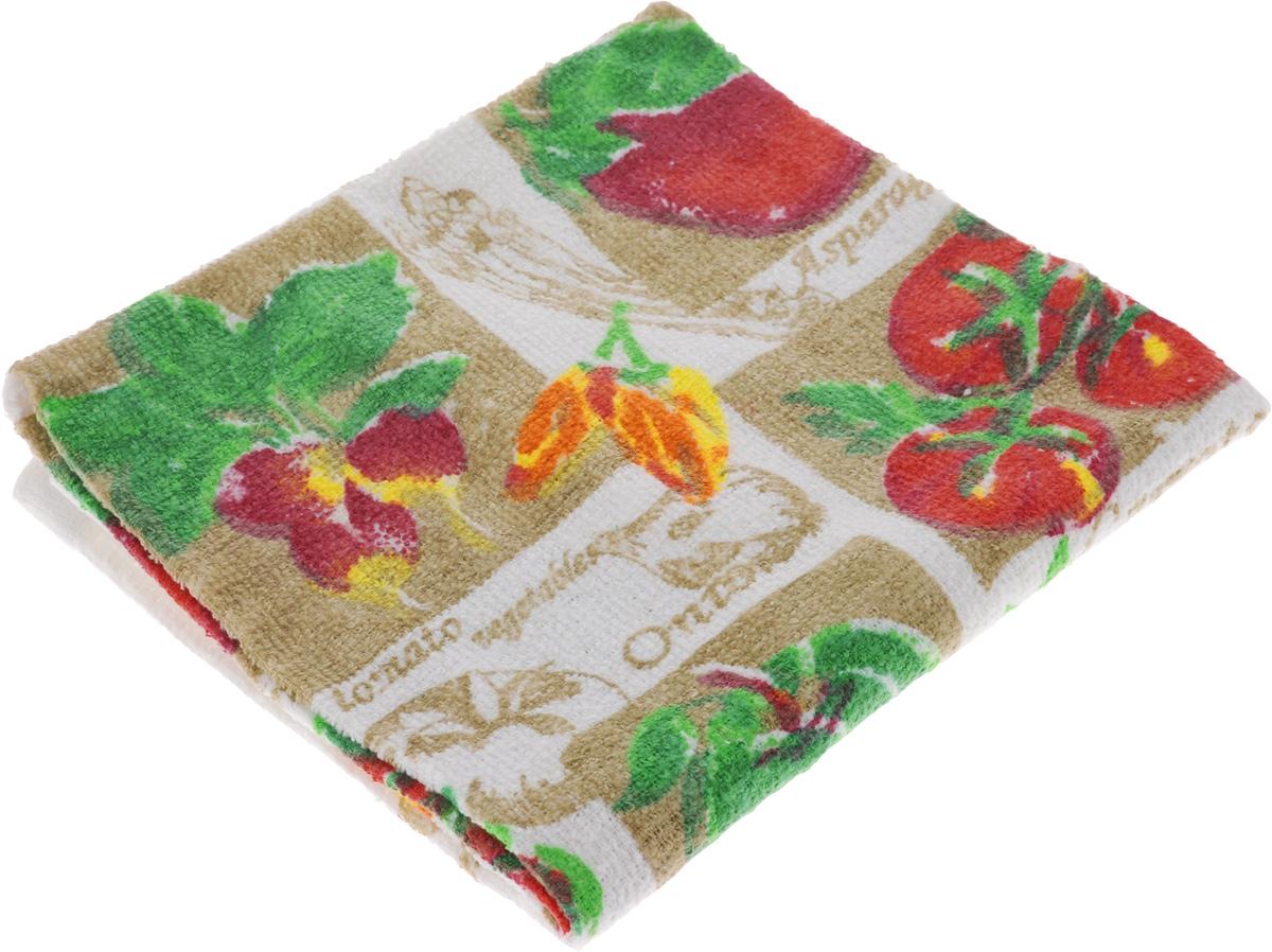 Полотенце кухонное Home Queen Овощи, 38 х 64 см53498_овощиКухонное полотенце Home Queen Овощи, выполненное из 100% хлопка, оформлено ярким рисунком. Изделие предназначено для использования на кухне и в столовой. Такое полотенце станет отличным вариантом для практичной и современной хозяйки.