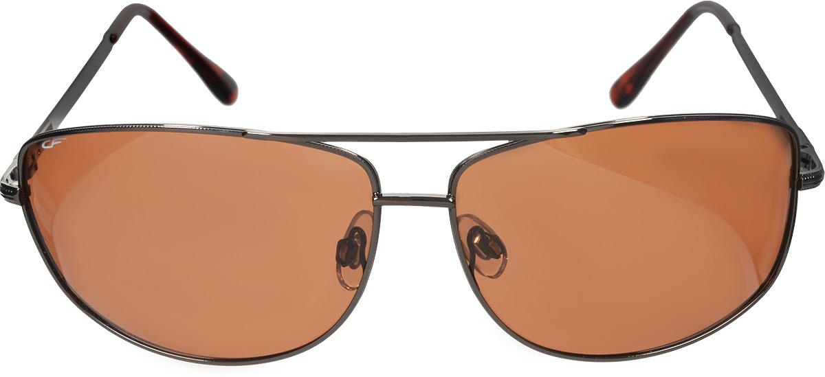Очки поляризационные Cafa France (Кафа Франц) унисекс, цвет: коричневый. CF919CF919Поляризационные очки с темной линзой. Оправа выполнена из металла. Предназначены для вождения автомобиля в солнечную погоду. Гарантируют: - защиту от яркого и низкого солнца - защиту от ультрафиолетового излучения - защиту от бликов, отраженного света - оптимальную степень затемнения - четкую контрастность - естественные цвета - снижение усталости глаз Металлическая модель современного дизайна. Коричневая линза. Категория затемнения линз Cat.3